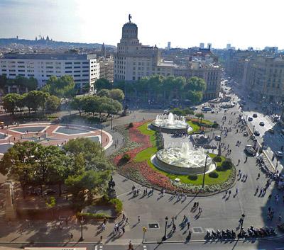 Datos e historia de plaza catalu a - Sitios para casarse en barcelona ...